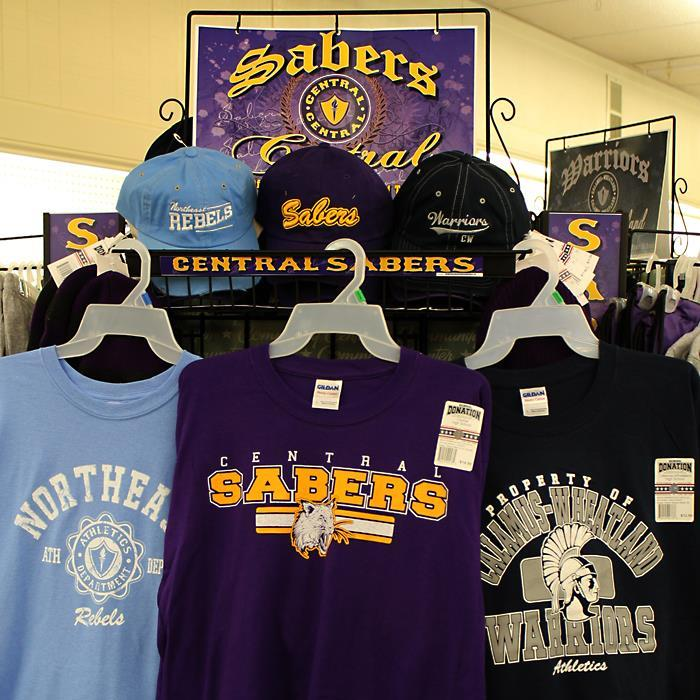 Central Saber, Northeast and Cal-Wheat school apparel