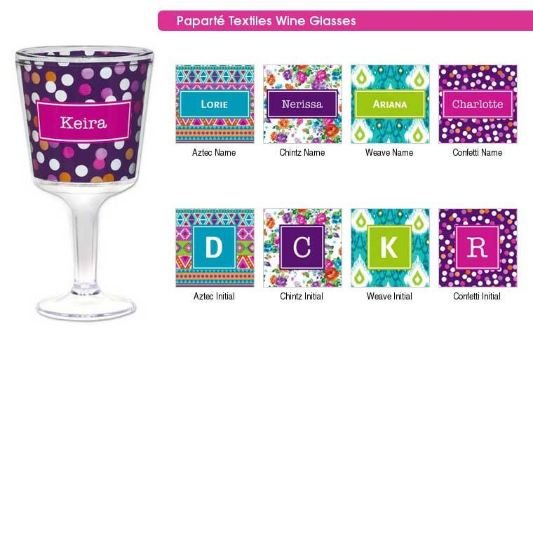 personalize gift wine glass name