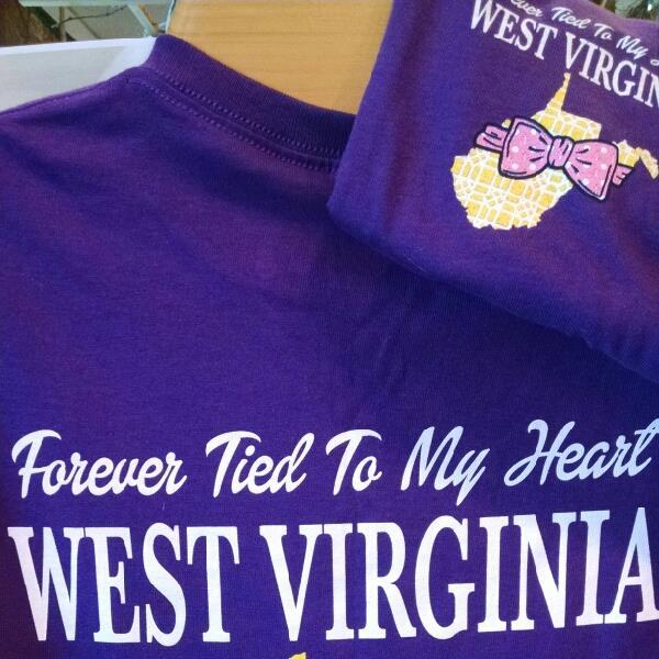 Forever Tied to My Heart West Virginia T-Shirt