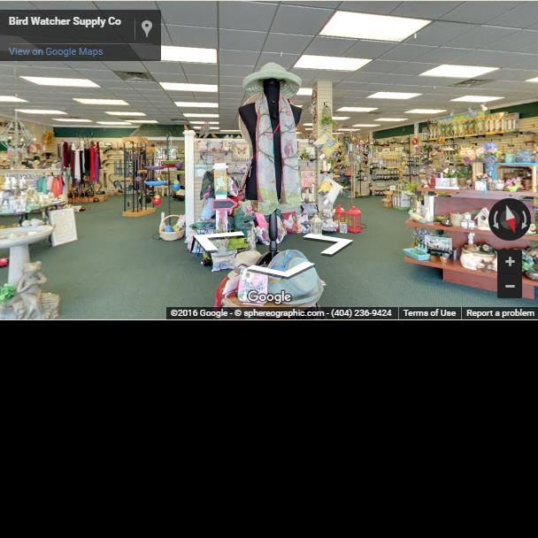 Bird Watcher Supply Company Marietta store walk through Google Maps