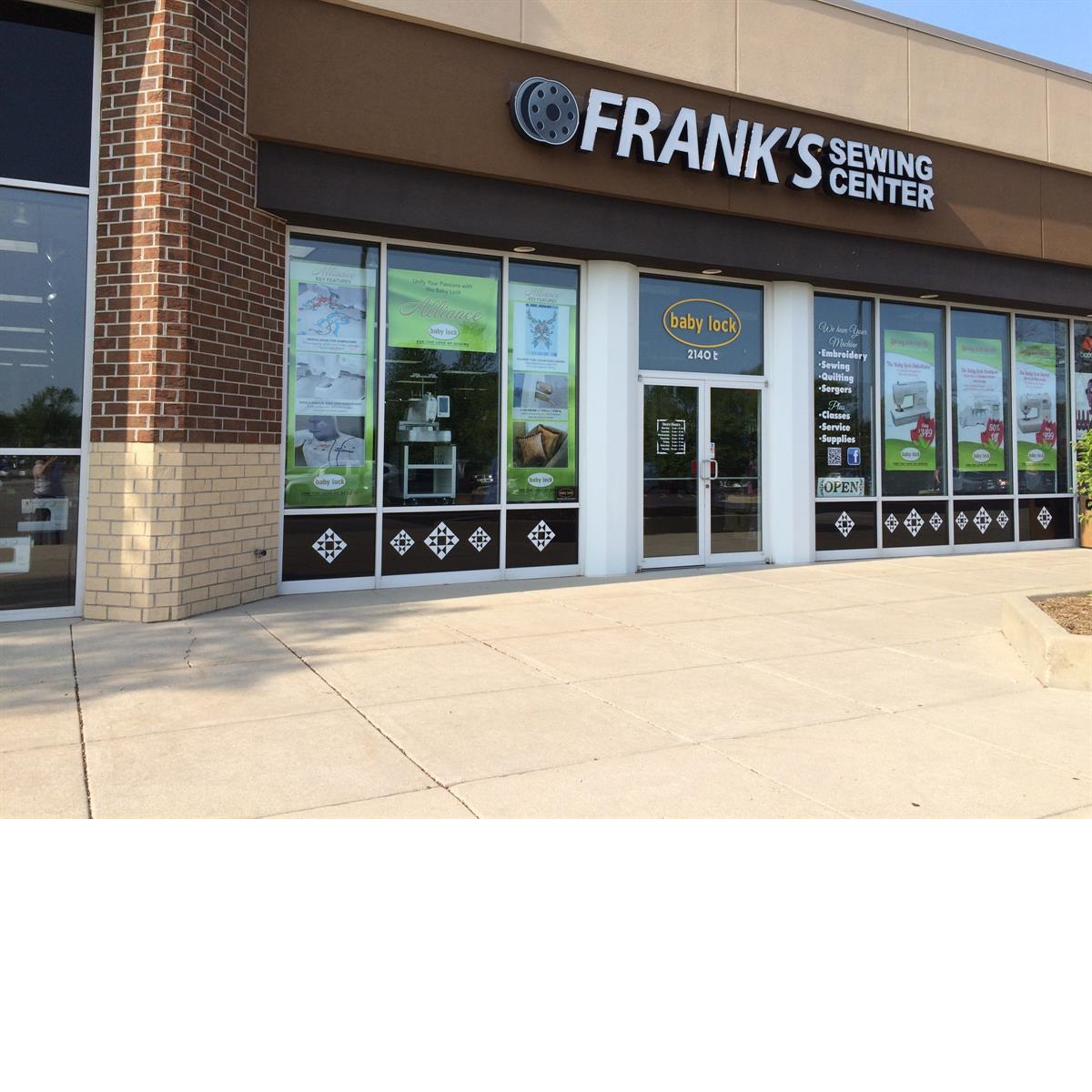 Frank's Sewing Center store front Waukesha WI