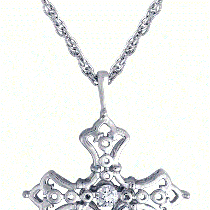 Heartbeat_necklace_cross_sterling_silver_diamond_filigree