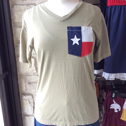 Sorority Texas Flag Pocket Tee, Custom Sorority Greek Life Texas Flag Tshirt
