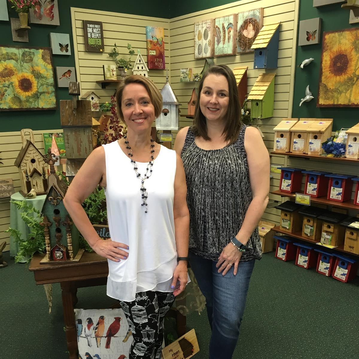 Julia Elliott and Karen Theodorou, owners of Bird Watcher Supply Company