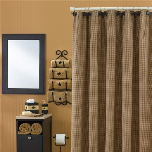 park designs shades of brown shower curtain