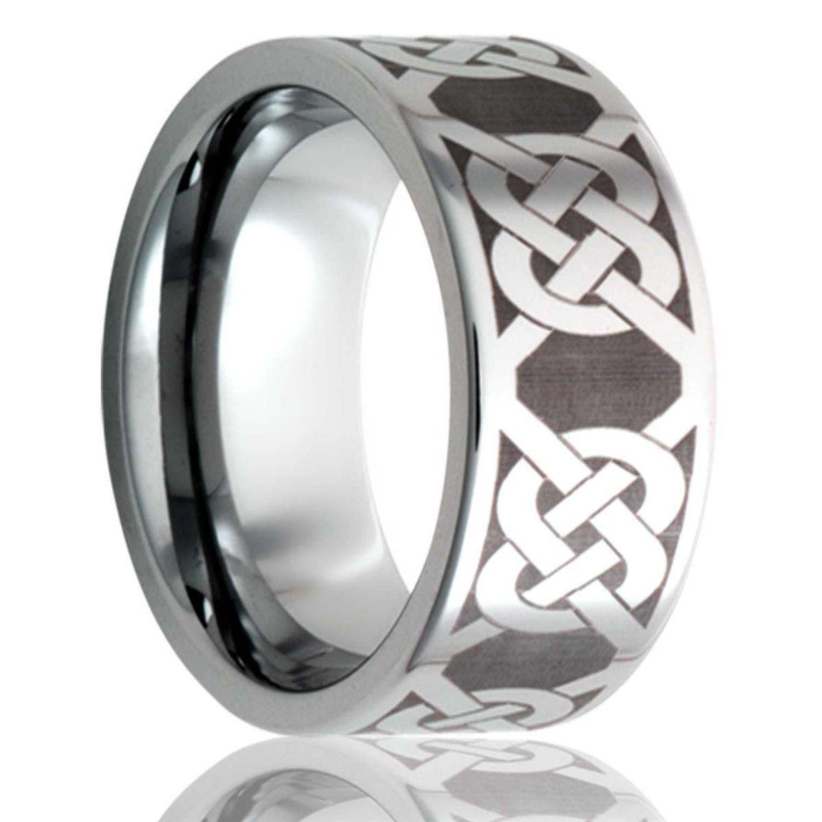 alternative metal, celtic knot, men's wedding ring, kluh jewelers