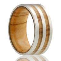 alternative metal, wood ring, men's wedding ring, kluh jewelers