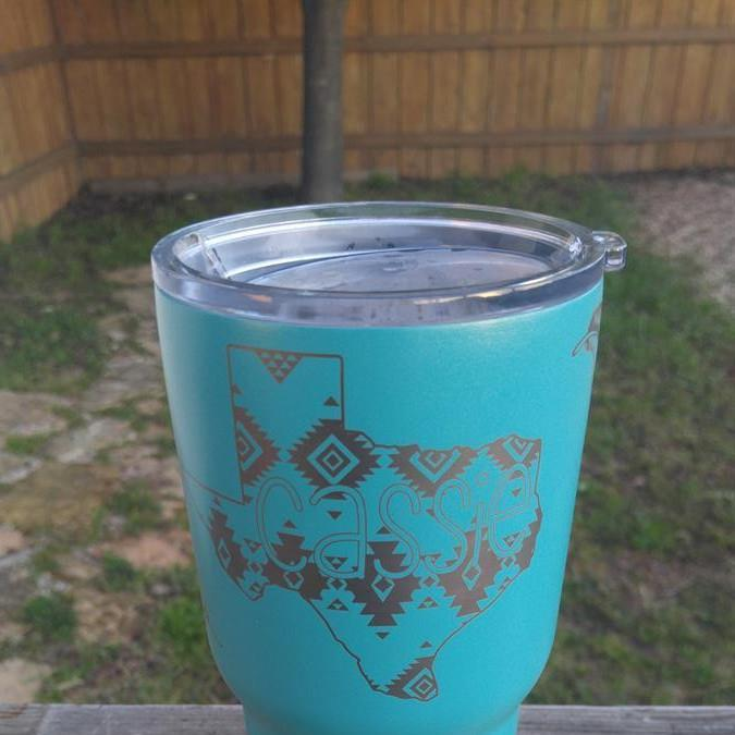 Engraved RTIC guncoat mug Texas