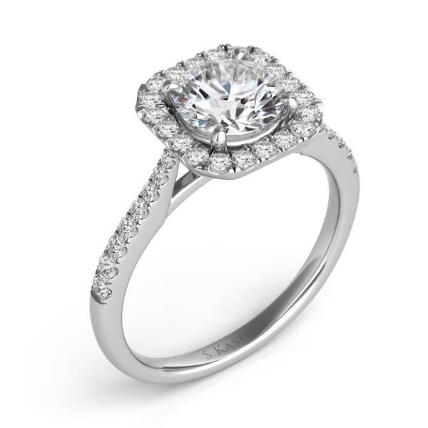 White_gold_square_halo_diamond_engagemnet_ring