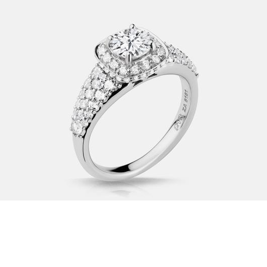 white_gold_halo_bead_set_diamond_engagement_ring_mounting
