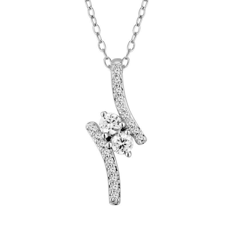 diamond pendant, diamond necklace, u&i, kluh jewelers