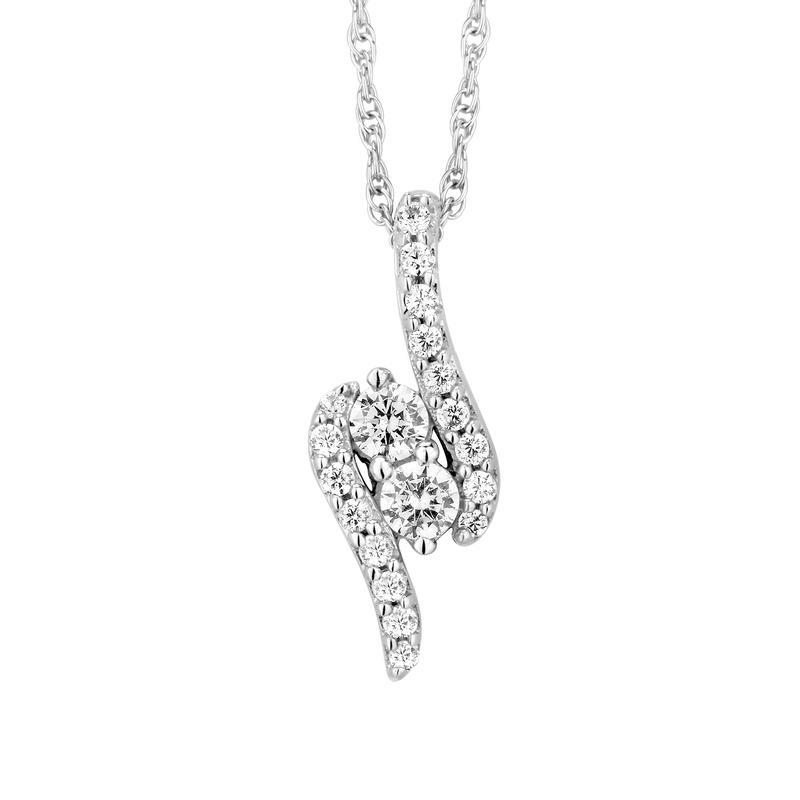diamond pendant, U&i, diamond necklace, kluh jewelers