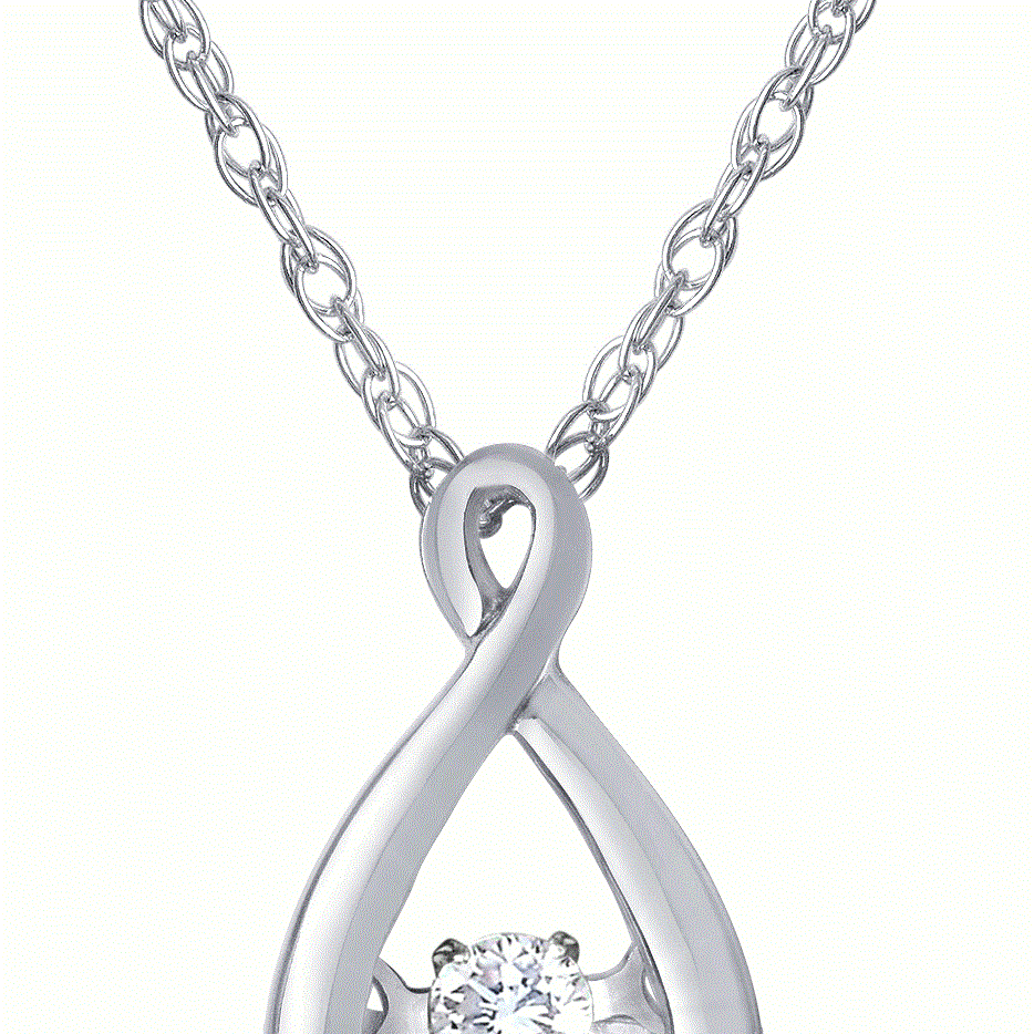 diamond pendant, heartbeat, diamond necklace, kluh jewelers