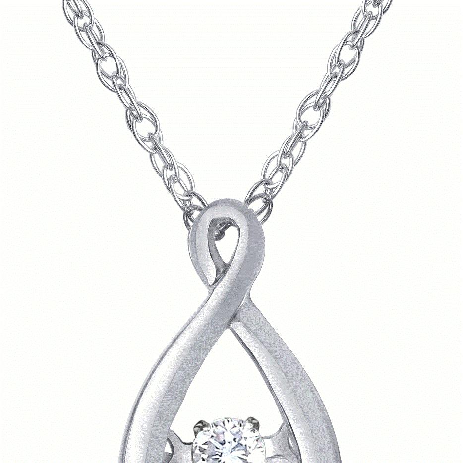 diamond pendant, heartbeat, diamond necklace, kluh jewelers