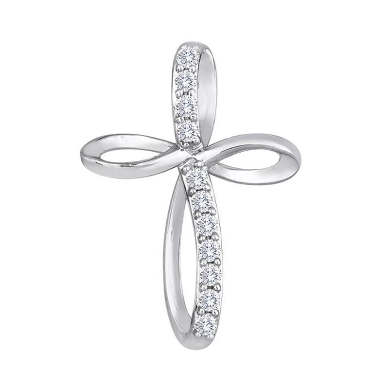 diamond pendant, cross, diamond necklace, kluh jewelers