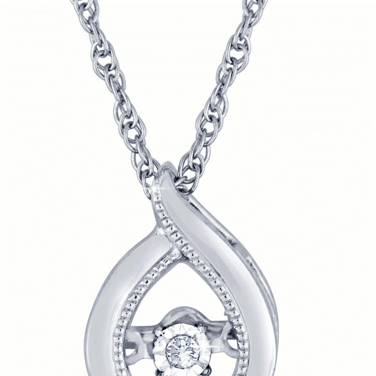 diamond pendant, diamond necklace, heartbeat, kluh jewelers