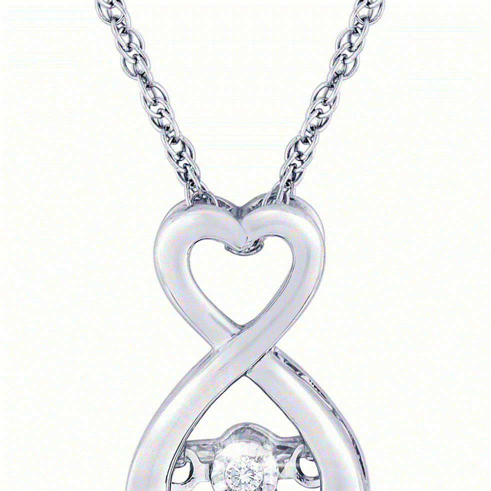diamond pendant, diamond necklace, heartbeat, kluh jewelers