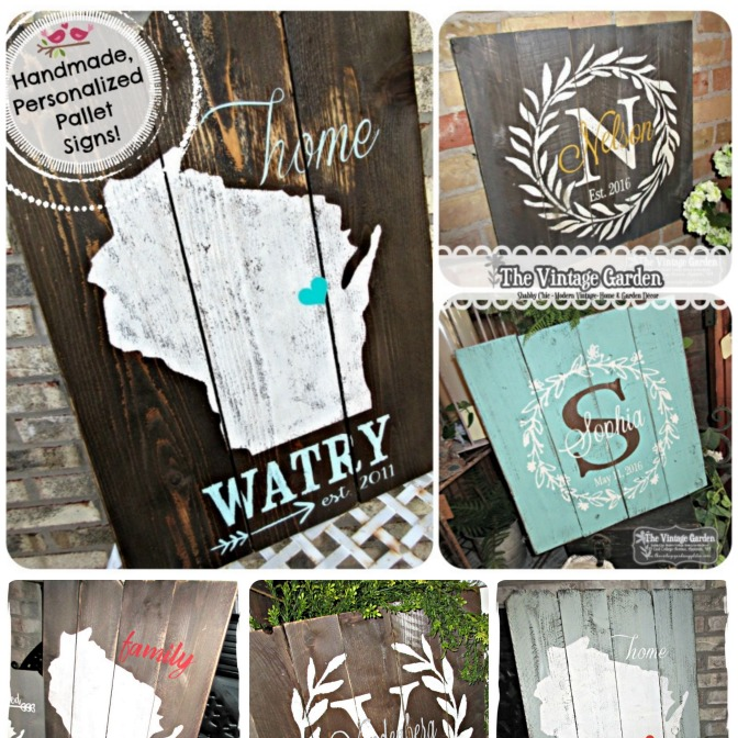Customized, Personalized Handmade Pallet Signs!