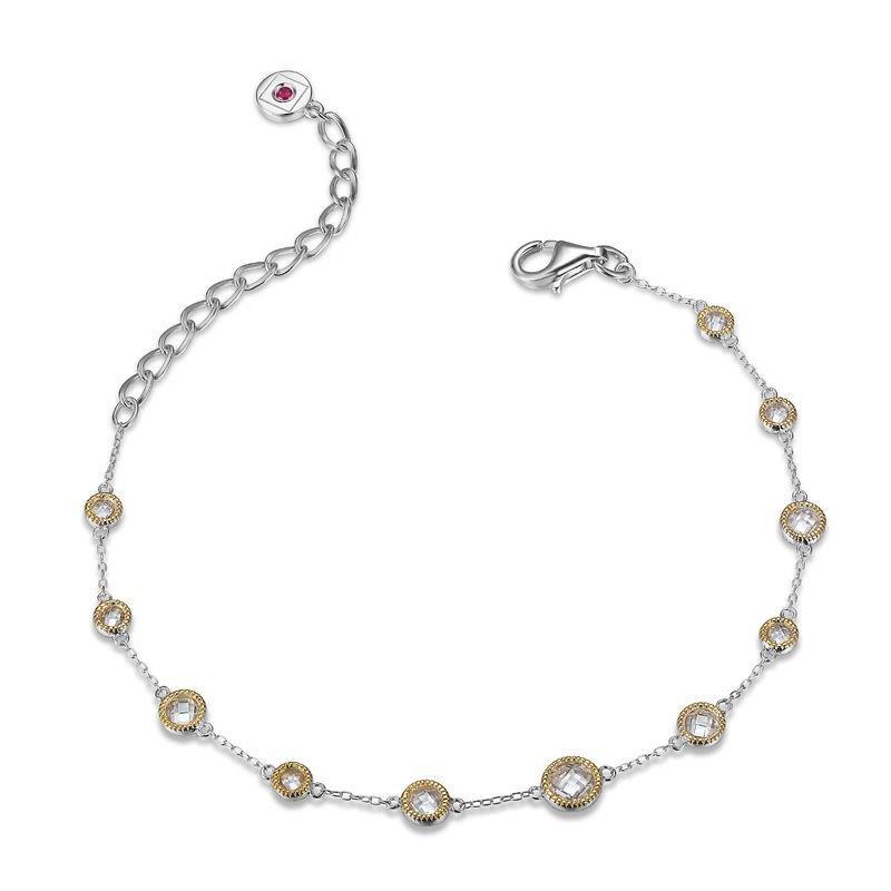 ELLE silver and gold cubic zirconia bracelet
