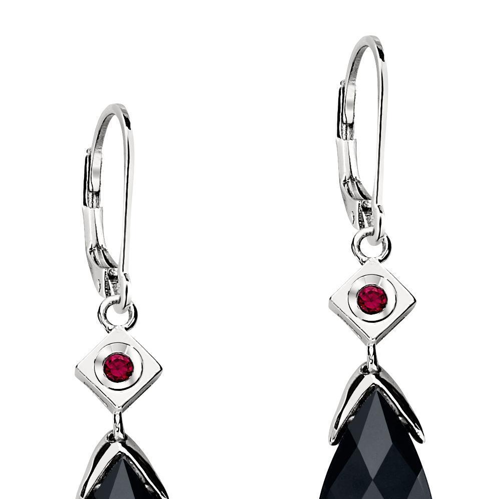 ELLE black agate earrings