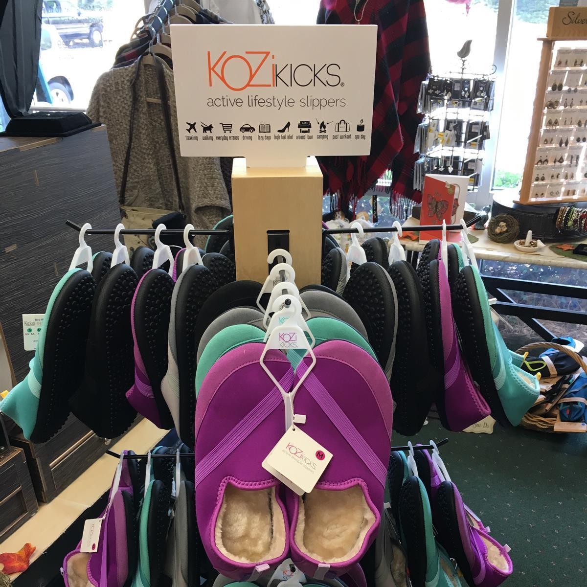 KoziKicks, active lifestyle, slippers, gifts