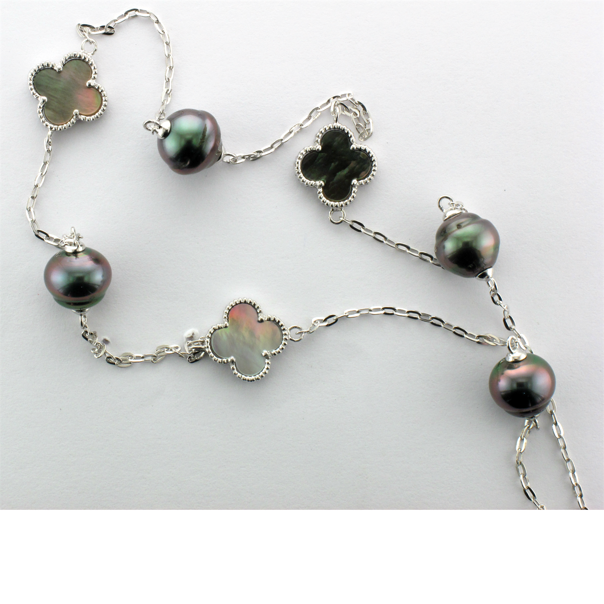 Tahitian Pearl & Mother of Pearl Necklace