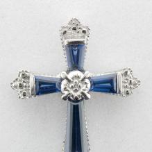 Blue Sapphire Cross