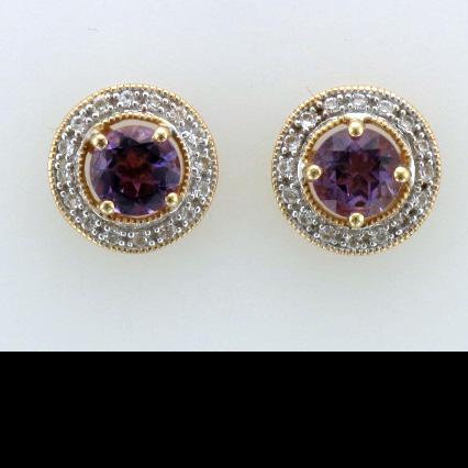 Amethyst & Sapphire Earrings