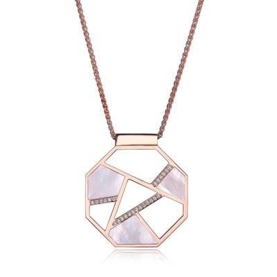 ELLE rose gold geometric pendant