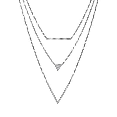 ELLE layered cubic zirconia necklace