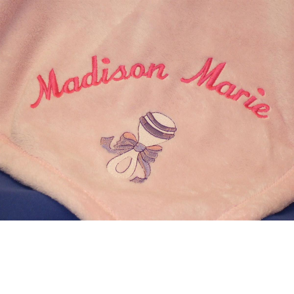 My ProductPersonalized baby blanket with rattle