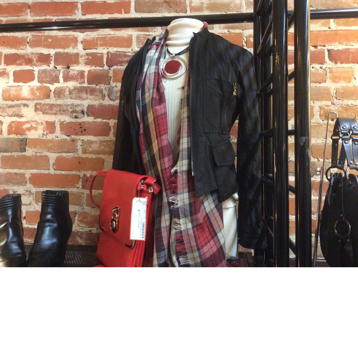 Consigned women's casual wear with accessories at Refashion Consigned Furniture and Clothing