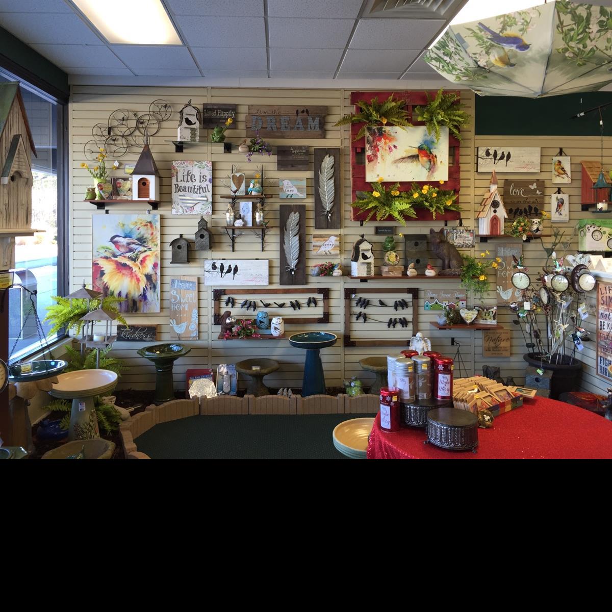 home decor, bird house, bird bath, wall art, gifts