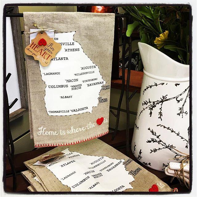 tea towel, gift, gifts, home decor, hostess gift, Georgia, home