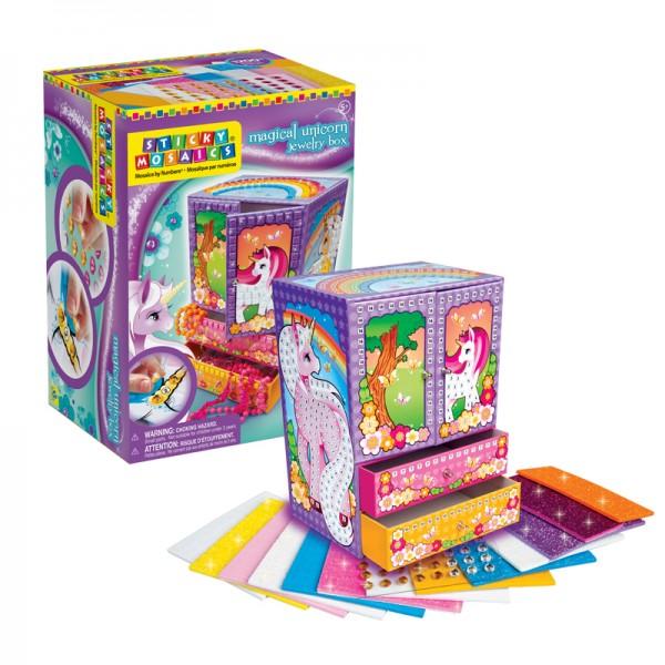 Sticky Mosaics® - Magical Unicorn Jewelry Box