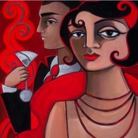 Feelin' The Love,Pop Art by Tim Rogerson at Bella Arte Gallery