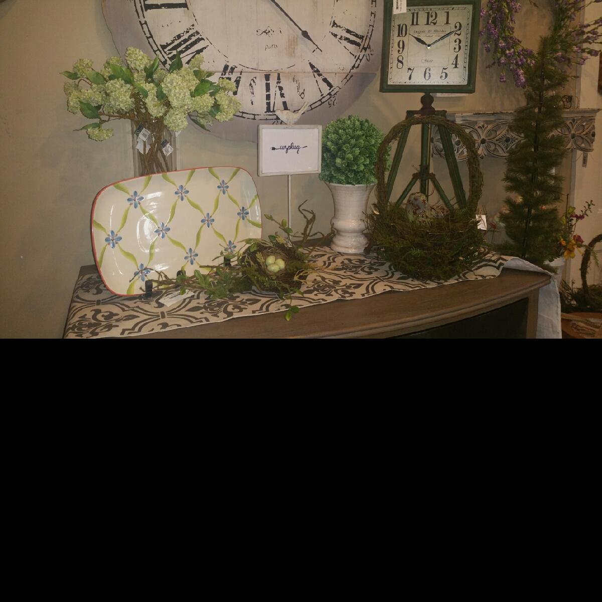 Platter, Clocks, Spring nests, Spring floral, Revive & Company