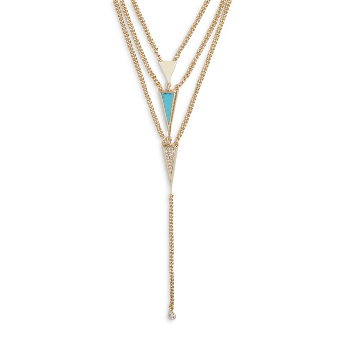 Triangle Lariat Necklace  #21990236082