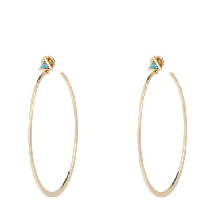 Triangle Hoop Earrings  #21993236082