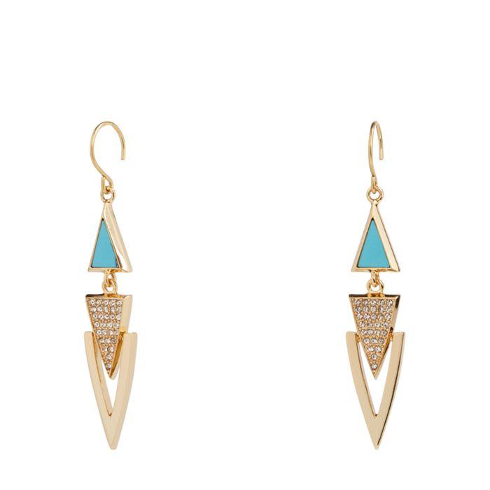 Triangle Triple Drop Earrings  #21996236082