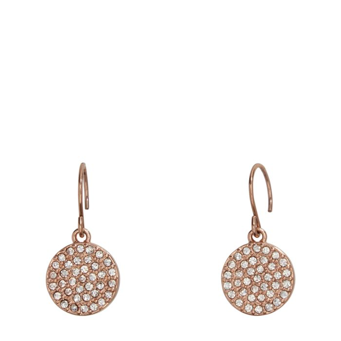 Pave Disc Drop Earrings  #22224G34958