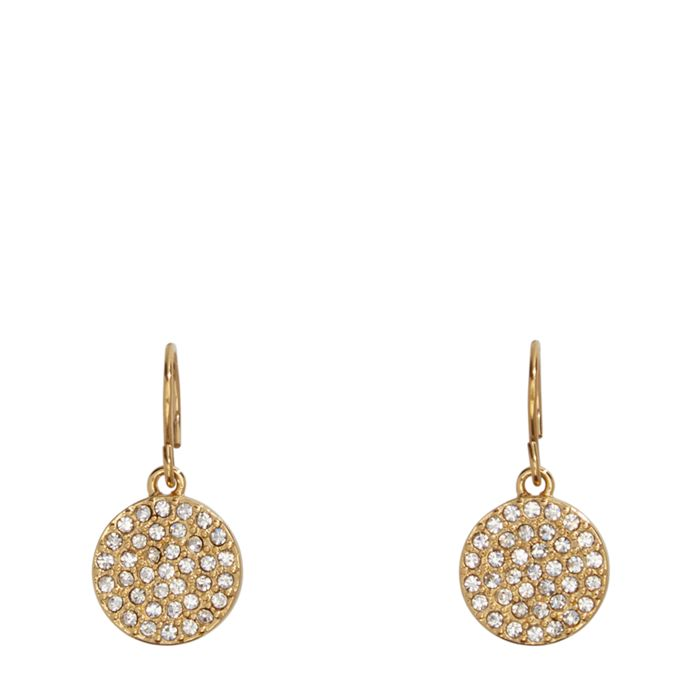 Pave Disc Drop Earrings  #22224236958