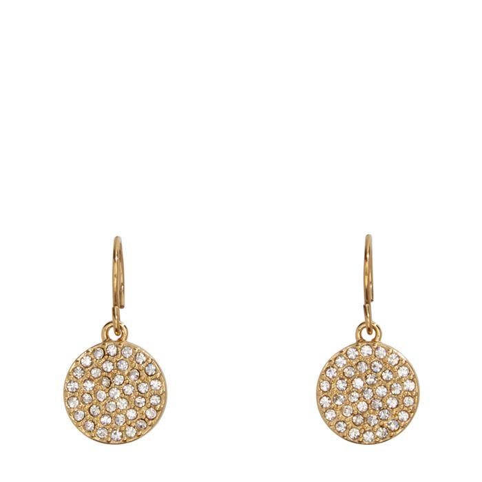 Pave Disc Drop Earrings  #22224236958