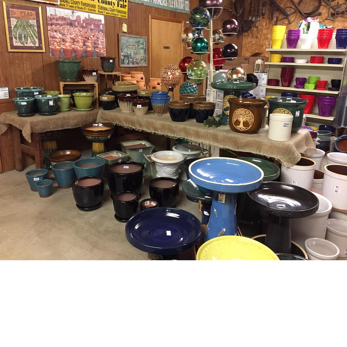 Pottery_Garden Center_Birdbaths