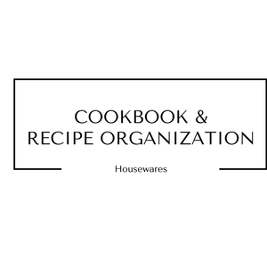 Cookbook and Recipe Organization Housewares at Gifts and Gadgets