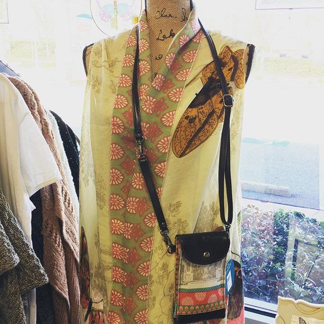 scarf vest, spring, fashion, crossbody bag, birds, butterflies