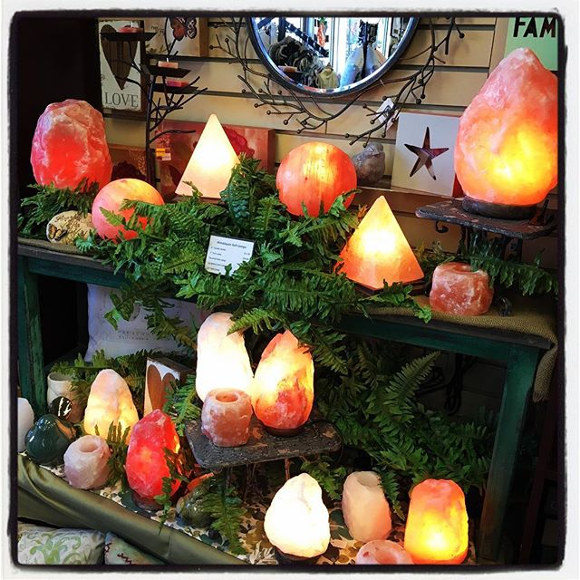 Himalayan salt lamps available at Bird Watcher Supply Company