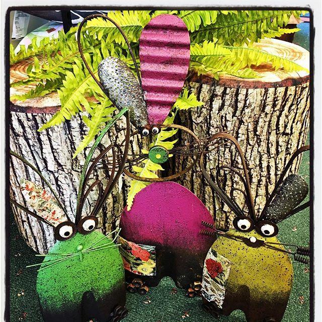 shovel bunnies, garden art, whimsical, spring, metal, yard decor