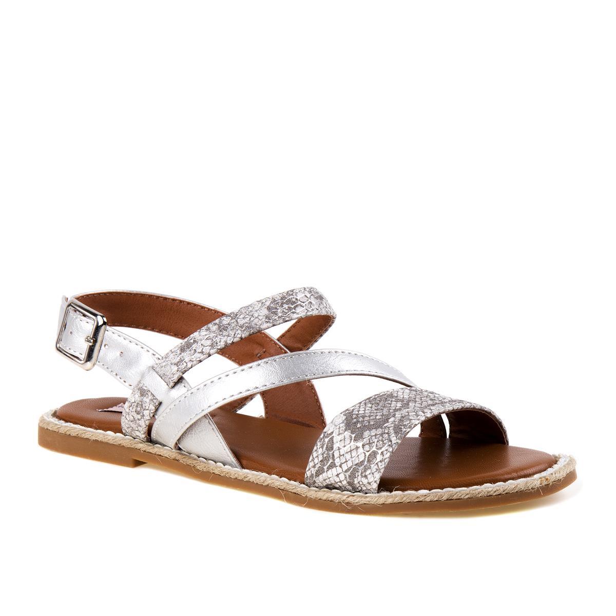 Silver Strap Sandal