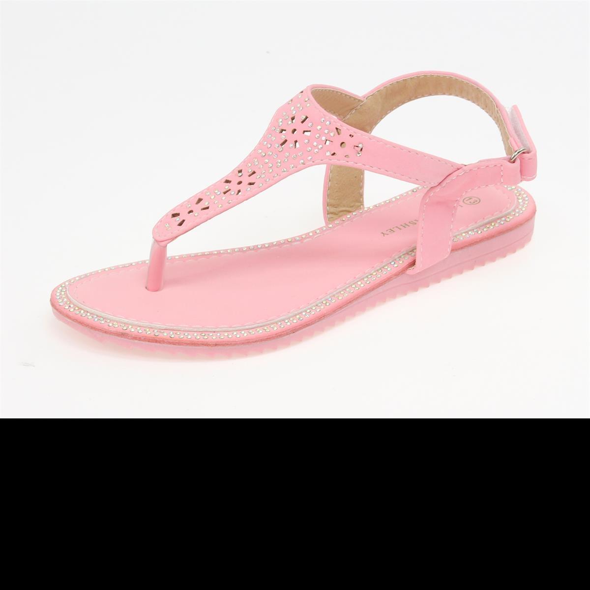Bubble Gum PInk T Strap Sandal
